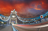 Sunset over Tower Bridge - London — Stock Photo