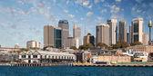 摩天大楼的悉尼海港在杰克逊,天然良港澳港 — 图库照片