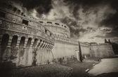 Ein blick auf die festung des vatikan in rom — Stockfoto