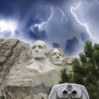 Storm in South Dakota. Mount Rushmore view — Stock Photo