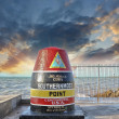 Southernmost Point sign in Key West, Florida. Beautiful seascape — Stock Photo