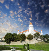 White Castle in Eastern Europe — Stock Photo