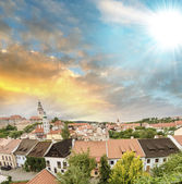 Medieval town buildings in the heart of Europe — Stockfoto