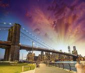 The Brooklyn Bridge in New York City — Стоковое фото