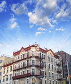 Ciudad de nueva york. bello horizonte en temporada de verano — Foto de Stock
