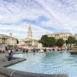 Постер, плакат: LONDON SEP 29: Tourists enjoy beautiful Trafalgar Square Septe