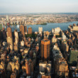 Manhattan skyscapers. Stunning skyline of New York City — Stock Photo