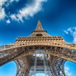 Terrific view of Eiffel Tower in winter season, Paris — Stock Photo