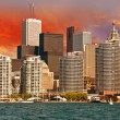 Toronto. Beautiful view of city skyline from Lake Ontario — Stock Photo