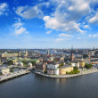 Stockholm, Sweden. Aerial view of the Old Town (Gamla Stan). — Stock Photo