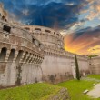 Side external View of Castel Santangelo in Rome, Italy — Stock Photo