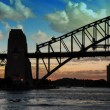 Sydney Harbour Bridge Silhouette at Sunset — Foto de Stock