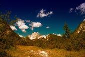日没時の山の風景の豪華な景色 — ストック写真