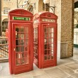 Red Phone Booth on the streets of London — Foto Stock