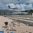 PRINCESS JULIANA AIRPORT, ST MAARTEN - APRIL 19: Airplane lands — Stock Photo #35765261