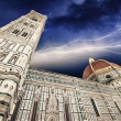 Beautiful storm colors over Cathedral Church. Duomo, Basilica di — Stock Photo