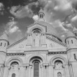 Beautiful sky in Paris - Montmartre and Sacred Heart Cathedral — Stock Photo