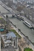 Beautiful aerial view of Paris in winter — Stock Photo