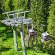 Cable car in the middle of Dolomites - Italian Alps — Stock Photo