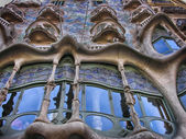 BARCELONA - APR 24: Casa Mila or La Pedrera on April 24, 2008 in — Stock Photo
