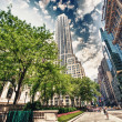 New York Skyscrapers on 5th Avenue, Next to the Public Library. — Stock Photo