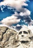 Monte rushmore - george escultura de washington. — Foto Stock