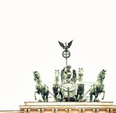 Quadriga monument in Brandenburg Gate — ストック写真