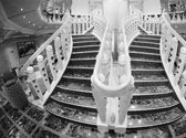 Staircase of a Modern Cruise Ship — Foto Stock