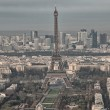 Stock Photo: Paris. Aerial view of famous Eiffel Tower. La Tour Eiffel
