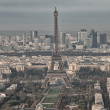 Paris. Aerial view of famous Eiffel Tower. La Tour Eiffel — Stock Photo #36490067