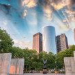 The Navy Memorial in Battery Park on a beautiful summer day — Stock Photo
