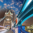 London. Magnificence of Tower Bridge — Stock Photo