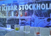 Stockholm icebar — Stock Photo
