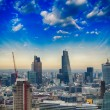 London. Beautiful city skyline with clouds and modern buildings — Stock Photo