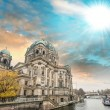 Berlin, Germany. Beautiful view of Cathedral along Spree river.  — Stock Photo