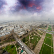 Paris, France. Magnificent aerial view of the city from Eiffel Tower — Stock Photo