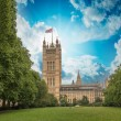 Palace of Westminster (Houses of Parliament) with Victoria Tower — Stock Photo