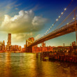 New York City. Beautiful skyline in summer season — ストック写真