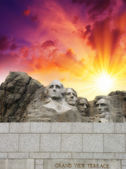 Mount Rushmore - South Dakota. Mountain and Grand View Terrace Wall — Stock Photo