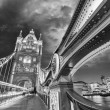 Night over Tower Bridge in London. — Stock Photo