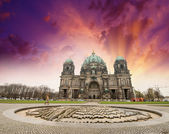 Berlin, Germany. View of Cathedral from Lustgarten — Stock Photo