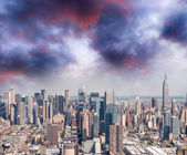 New York. Manhattan view from helicopter — Stock Photo