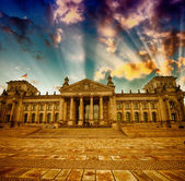 Berlin Reichstag Building in winter . — Stock Photo