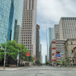 Stock Photo: Beautiful Houston skyline and skyscrapers, Texas
