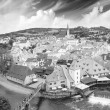Cesky Krumlov aerial view with medievalo architecture — Stock Photo