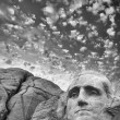 Stock Photo: Mount Rushmore - George Washington sculpture