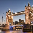 London, UK. Amazing view of famous Tower Bridge after sunset — Stock Photo