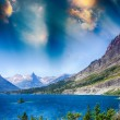 Lake of Glacier National Park, Montana — Stock Photo