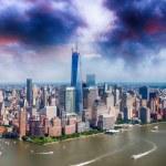 Tall skyscrapers of Manhattan - NYC — Stock Photo