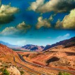 Desert landscape of Arizona, USA — Stock Photo #37411275